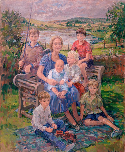 Elizabeth and her six grandsons