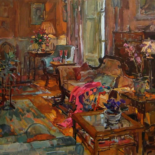 Drawing Room with Pink Shawl